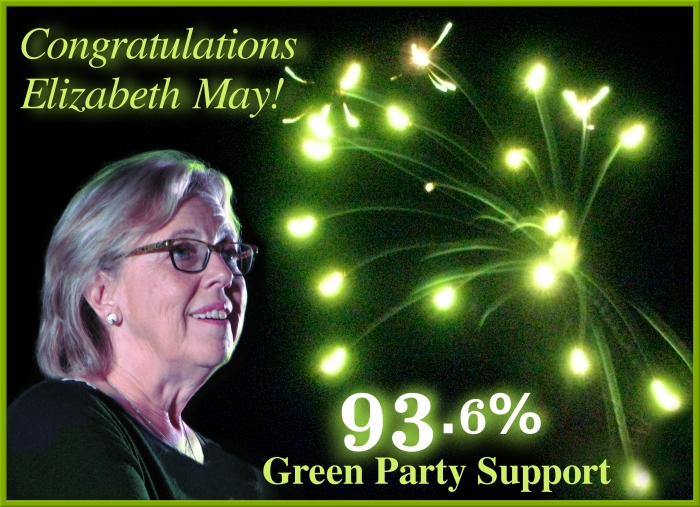 Congratulations Elizabeth May-93.6%