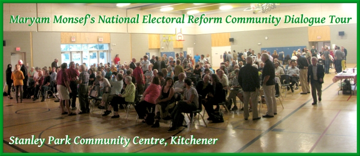 Stanley Park Community Centre - Maryam Monsef's National Electoral Reform Community Dialogue Tour