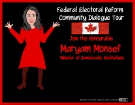 DIY Federal Electoral Reform Community Dialogue Tour ~ online version