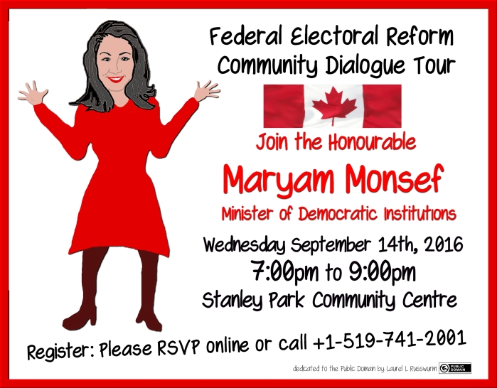 Monsef Federal Electoral Reform Community Dialogue Tour ~ print version